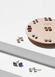 LOFT Pearlized Stone Stud Earring Set