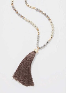 LOFT Pearlized Tassel Pendant Necklace