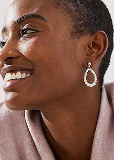 LOFT Pearlized Teardrop Earrings