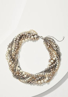 LOFT Pearlized Torsade Necklace