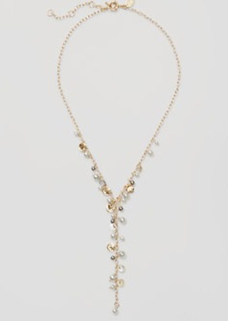 LOFT Pearlized Y Necklace