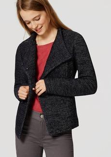 Pebbled Knit Peacoat
