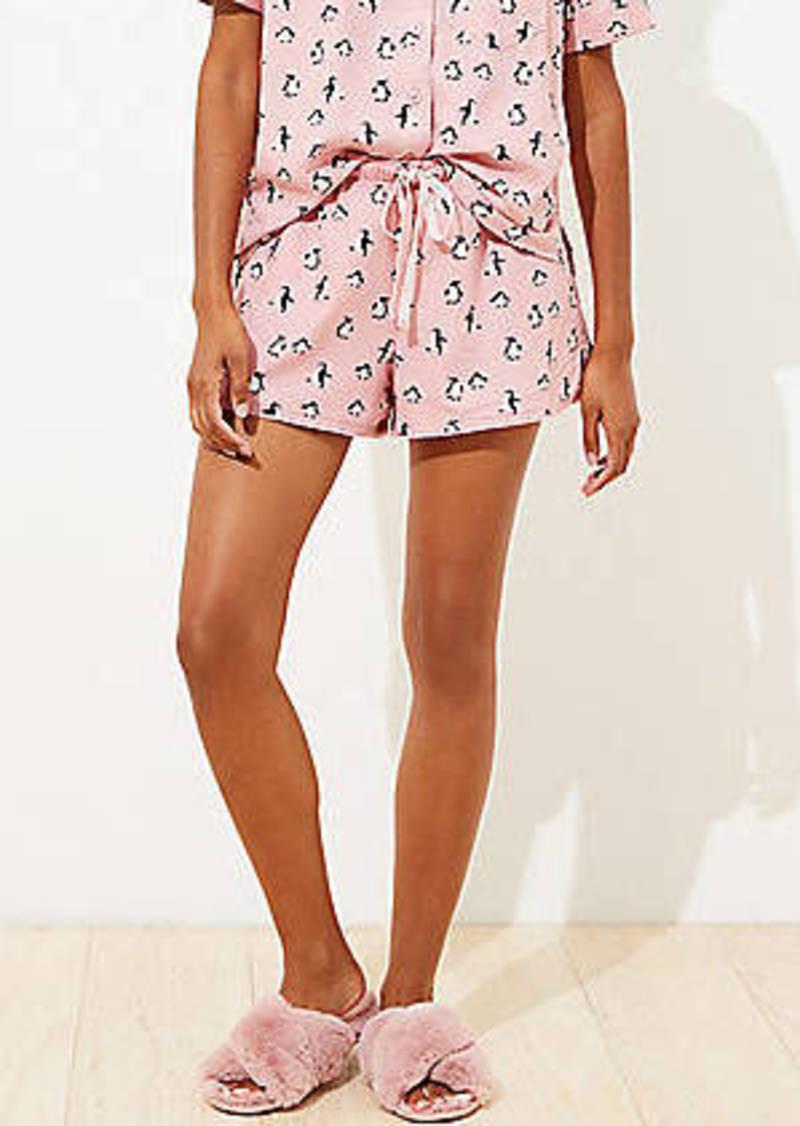 LOFT Penguin Pajama Shorts