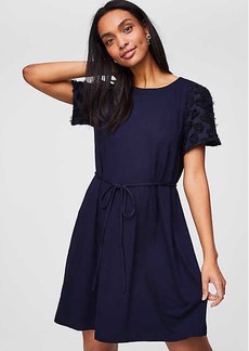 Petal Sleeve Tie Waist Dress