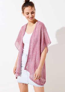 LOFT Petal Tossed Kimono
