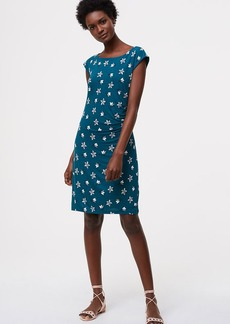 Petaled Side Shirred Dress