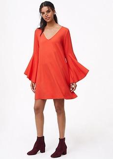 LOFT Petite Bell Sleeve Swing Dress
