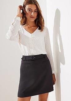 LOFT Petite Belted Skirt
