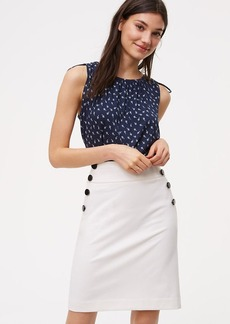 Petite Bi-Stretch Sailor Pencil Skirt