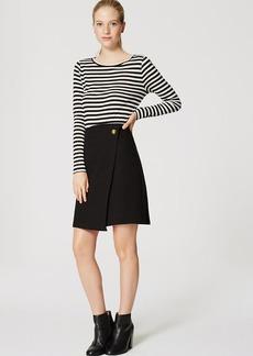 Petite Bi-Stretch Wrap Skirt