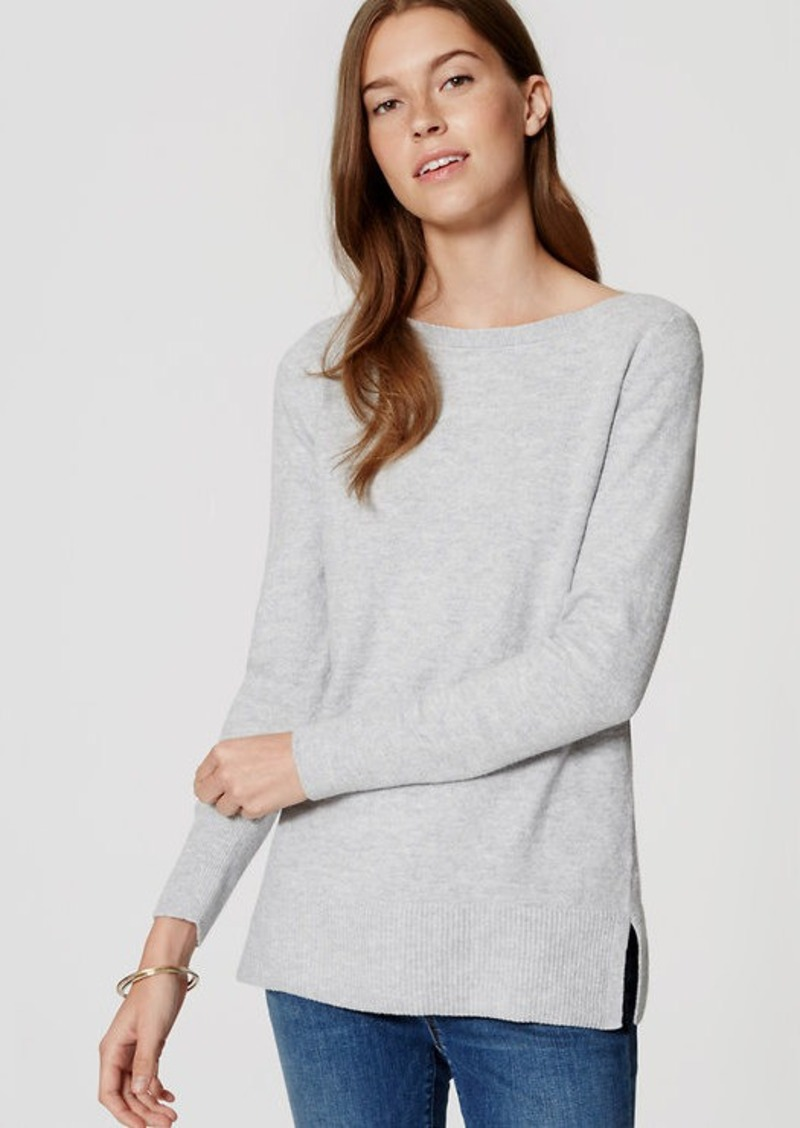 LOFT Petite Boatneck Tunic Sweater | Sweaters - Shop It To Me