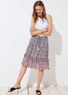 LOFT Petite Boho Mosaic Midi Skirt