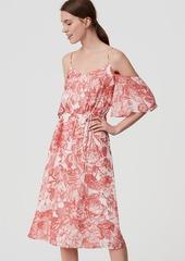 LOFT Petite Botanic Cold Shoulder Dress
