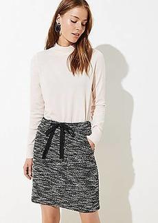 LOFT Petite Boucle Pocket Drawstring Skirt