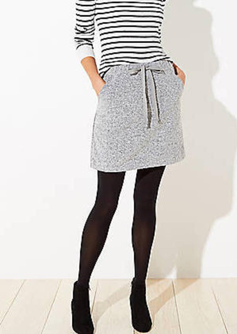 LOFT Petite Brushed Knit Jogger Skirt