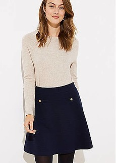 LOFT Petite Button Pocket Flippy Skirt