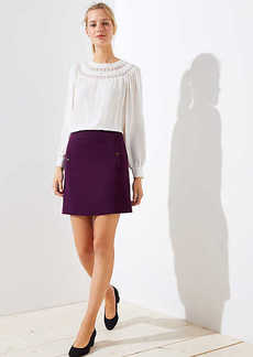 LOFT Petite Button Pocket Shift Skirt