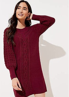 LOFT Petite Cable Sweater Dress