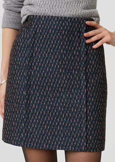 Petite Candy Cane Tweed Skirt