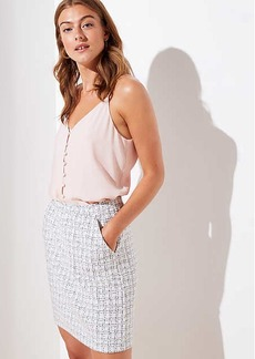 LOFT Petite Checked Jacquard Pull On Skirt