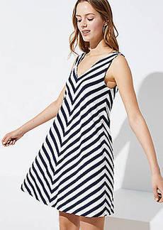 9d0f8c93b84 LOFT Petite Chevron Double V Sleeveless Swing Dress
