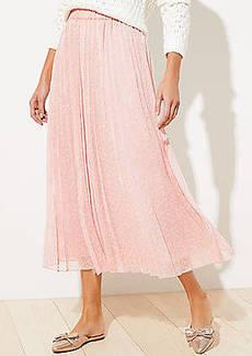 LOFT Petite Clip Dot Pleated Skirt