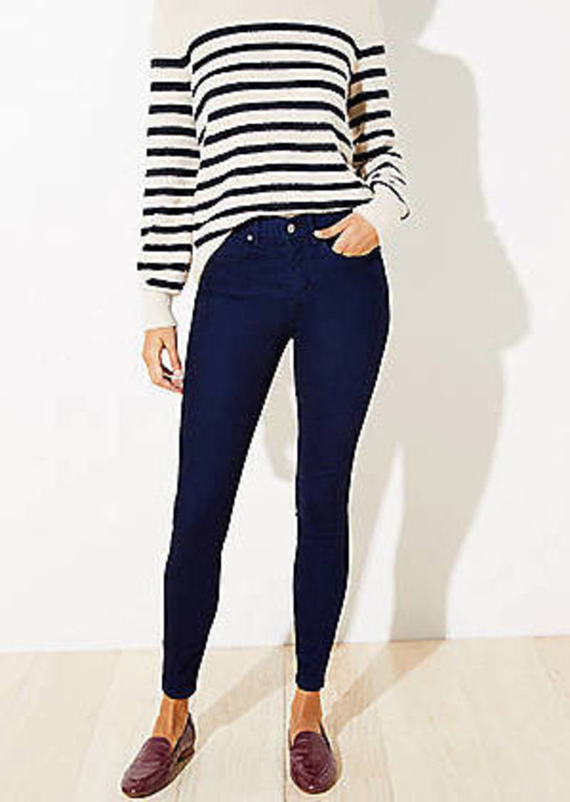 LOFT Petite Cozy Denim Leggings in Indigo