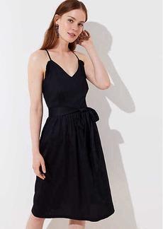LOFT Petite Criss Cross Ruffle Flare Dress