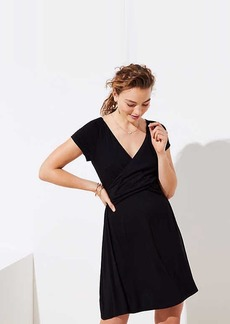 LOFT Petite Criss Cross Wrap Dress