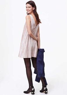 LOFT Petite Crushed Velvet Swing Dress