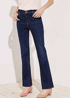 LOFT Petite Curvy Bootcut Jeans in Dark Classic Indigo Wash