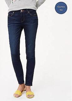 LOFT Petite Curvy Fresh Cut Skinny Jeans in Dark Indigo