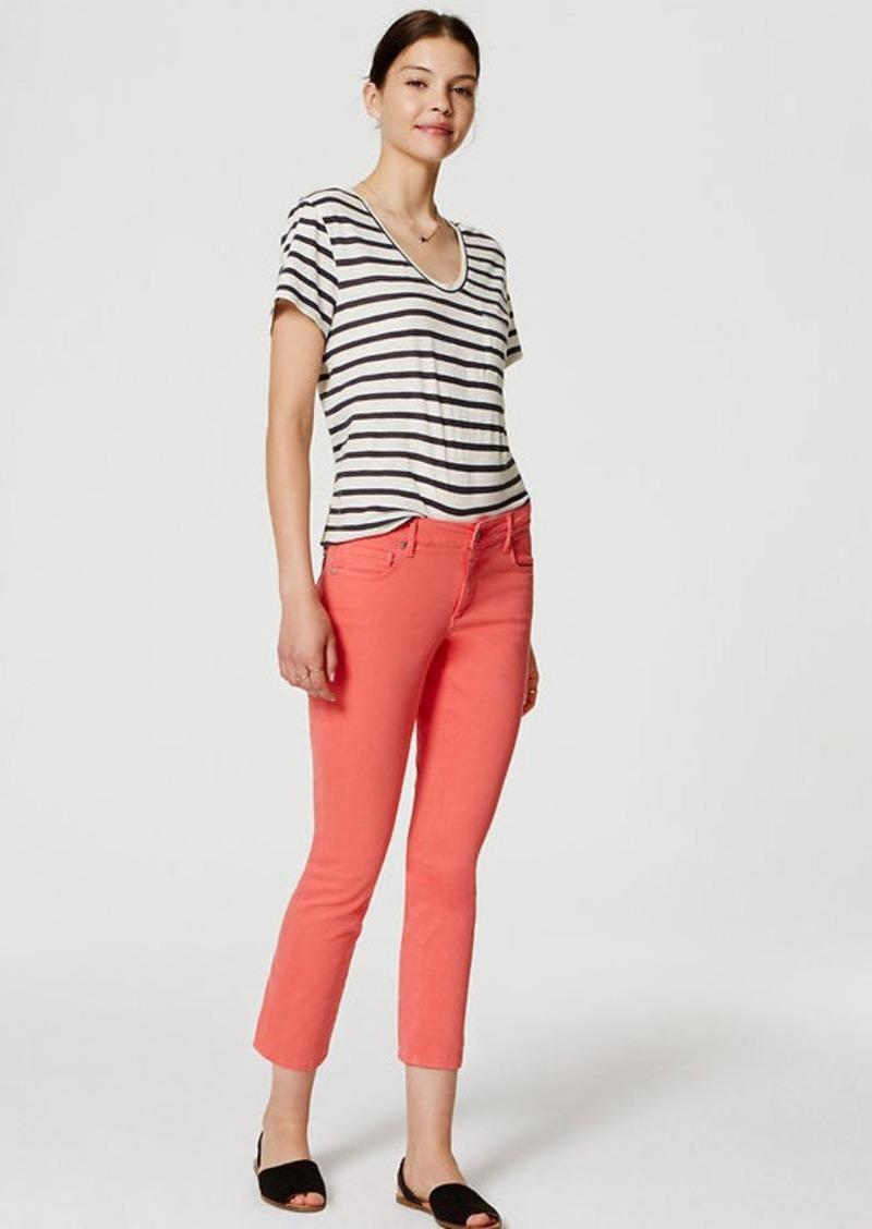 LOFT Petite Curvy Kick Crop Jeans