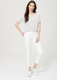 Petite Curvy Kick Crop Jeans in White