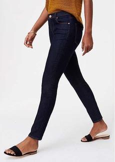 LOFT Petite Curvy Skinny Jeans in Dark Rinse Wash