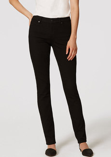Petite Curvy Straight Leg Jeans in Black