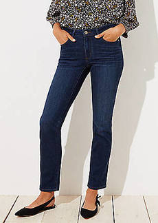 LOFT Petite Curvy Straight Leg Jeans in Dark Indigo Wash