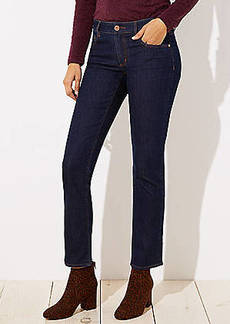 LOFT Petite Curvy Straight Leg Jeans in Dark Rinse Wash