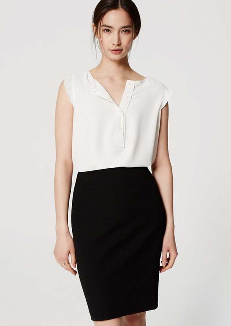 LOFT Petite Custom Stretch Pencil Skirt