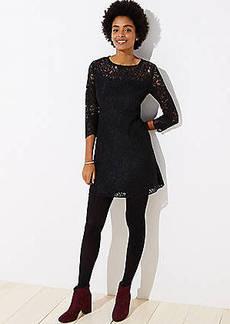 LOFT Petite Cutout Back Lace Dress