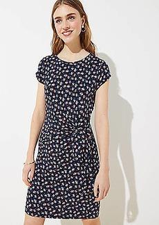 LOFT Petite Daisy Flounce Flare Dress