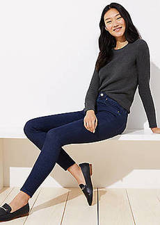 LOFT Petite Denim Leggings in Dark Rinse Wash