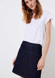 LOFT Petite Denim Pocket Shift Skirt