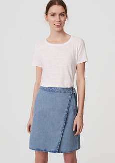 Petite Denim Wrap Skirt