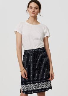 Petite Diamante Drawstring Pencil Skirt