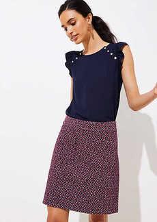 LOFT Petite Diamond Jacquard Knit Pocket Skirt