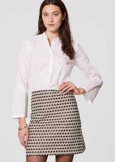 Petite Diamond Jacquard Shift Skirt