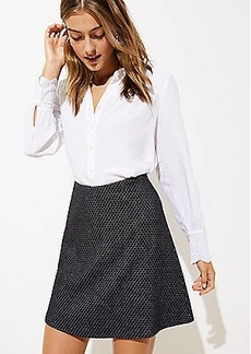 LOFT Petite Diamond Pull On Flippy Skirt