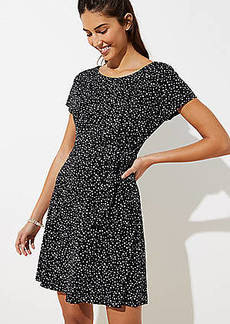 LOFT Petite Dotted Knot Flare Dress