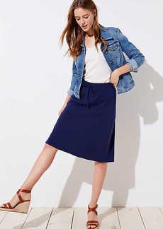 LOFT Petite Drawstring Full Skirt